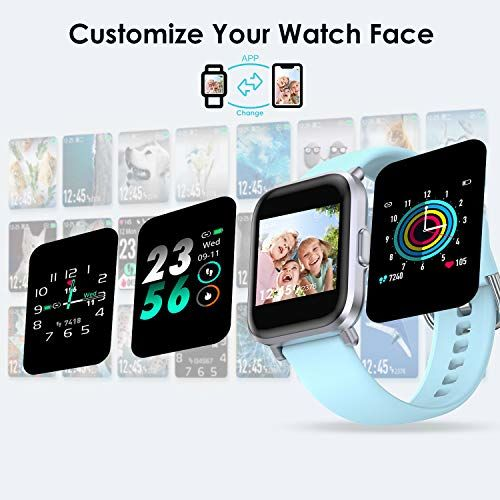 HolyHigh Smart Watch for Men Women with Customize Watch Face Heart Rate/Blood Oxygen/ Sleep Monitor, Waterproof Fitness Tracker Auto Tracking 18 Sports