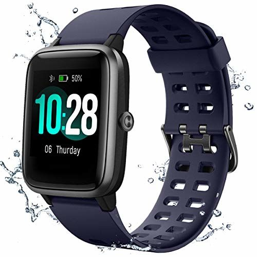 Muzili  IP68 Blue Silicone Touch Screen Touch Screen Digital Watch