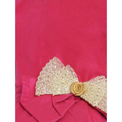 BITIYA BY BHAMA pink silk blend frock