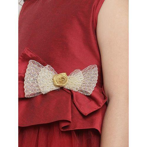 BITIYA BY BHAMA red silk blend frock