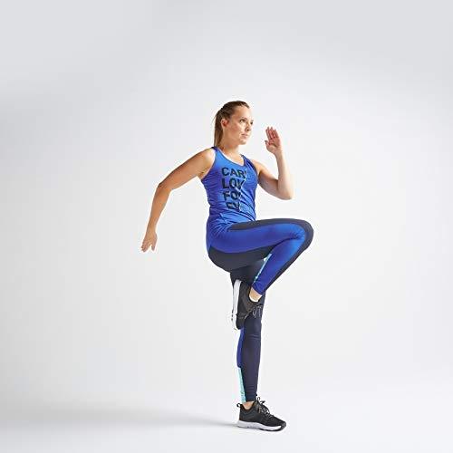 Domyos 8556348 Blue Fitness Leggings with Pocket, L / W33 L29
