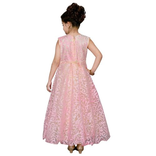 Aarika pink cotton blend party gown
