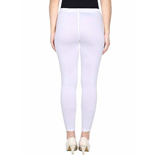BeBBanBurg Combo Women's & Girl's Lycra Ankle Length Free Size Leggings Pack of 3(Red, White, Black)