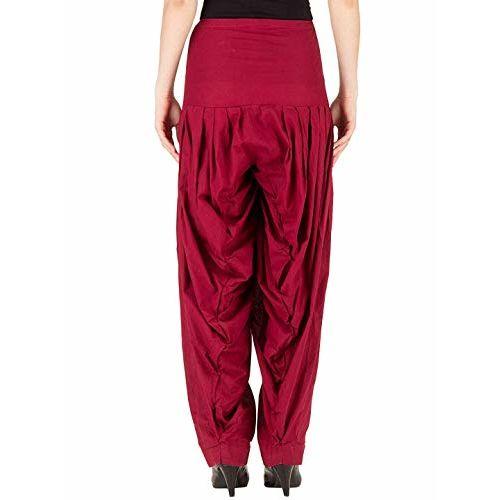 Sri Belha Fashions Womens Pure Cotton Plain Semi Patiala Dhoti Salwar Indian Pants Set Of- 3 Pcs EXPORT PRODUCTS (MULTI-024)