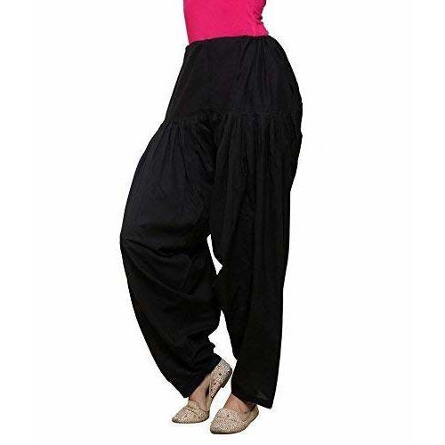 BelleVie Cotton Salwar for women and girls_free size_Black,White,Skin