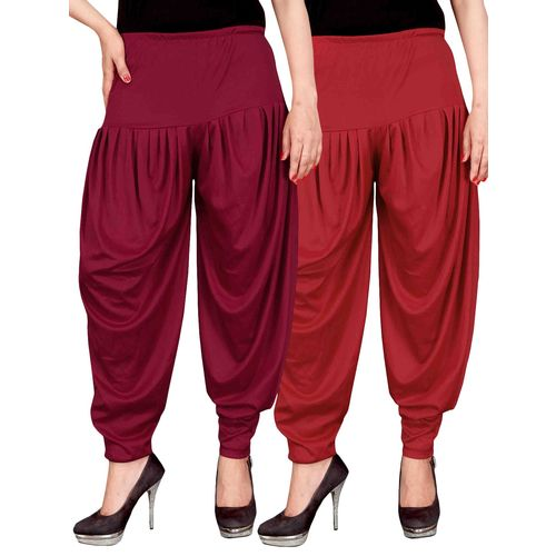 Culture the Dignity set of 2 multicolour lycra dhoti salwar combo