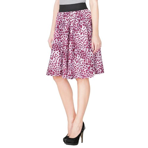 Smart and Glam multi colored crepe aline skirts