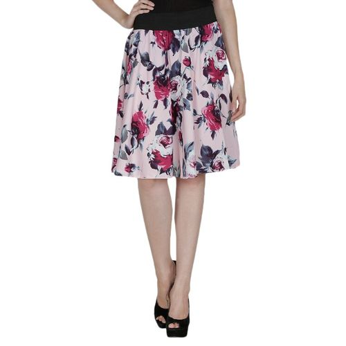 Smart and Glam multi colored crepe flared skirts