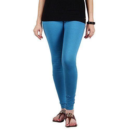 FabLab Cotton Lycra Churidar Leggings(FLCLCOMBO2PURPSBL,Purple, Sky Blue,Free Size) Combo Pack of 2
