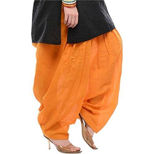 WHITE MANY Bottom Women's Cotton Patiala Salwar Combo (_Orange,Beige Rani pink_Free Size