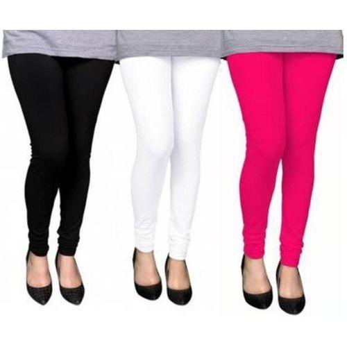 Aaru Collection Churidar Legging(White, Black, Pink, Solid)
