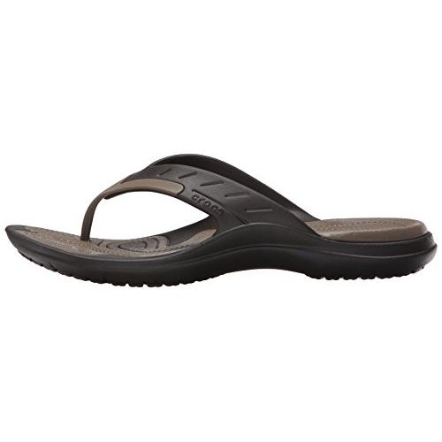 Crocs Brown Synthetic Casual Flip Flops