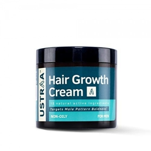 Ustraa Hair Growth Cream with Onion Extract, Bhringraj, Aloe Vera & Coconut for Complete Hair Care - 100 g