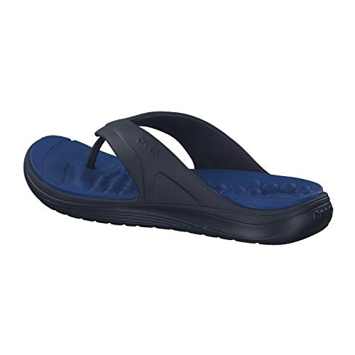 Crocs (M6W8) (205545-4HI-M6W8) Navy Blue Synthetic Flip Flops