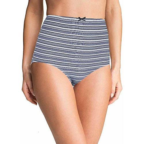 Pepperika Women's (Size 6XL) High Waist Cotton Stretchable Hipster Brief Underwear Maternity Pregnancy C-Panty After Delivery Plus Size Panties (Multicolour -