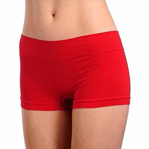 Firstwish Womens Synthetic Boy Short Panty (Free Size,Red)