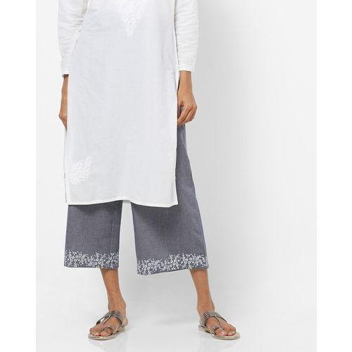 Rangriti Woven Culottes with Semi-Elasticated Waistband