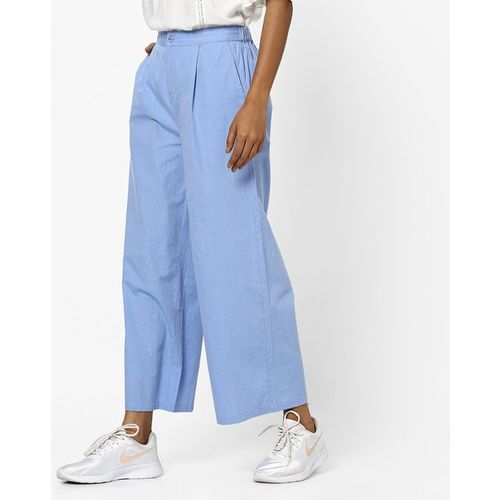 PROJECT EVE WESTERN WEAR Pleated Palazzos with Insert Pockets