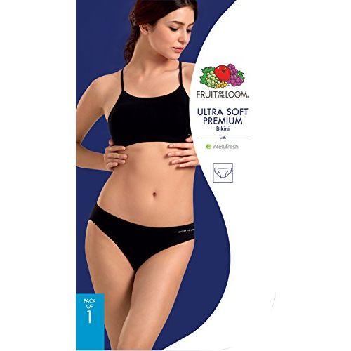 Fruit of the Loom Women's Plain Modal Bikini (FBKS04-A1S1-Black Beauty-M)
