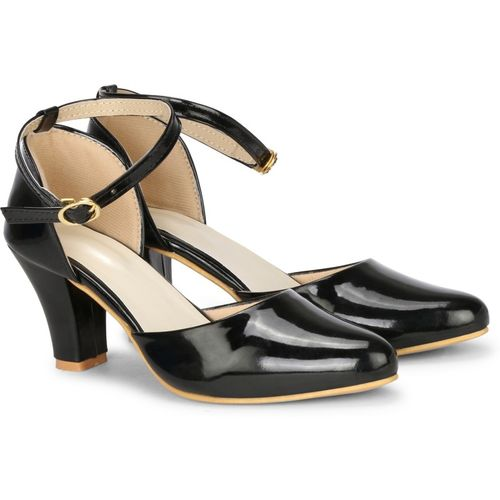 FASHIMO Women Black Heels