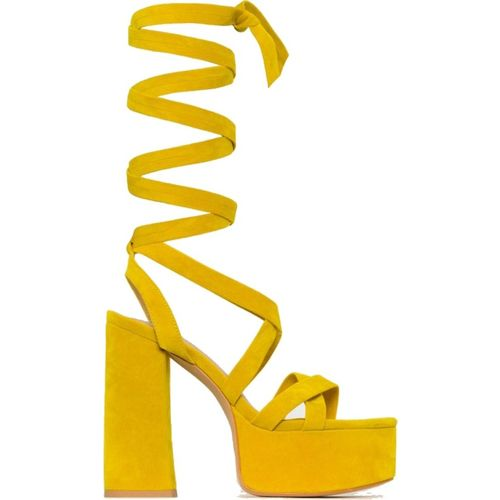 Klaur Melbourne  Yellow Platform Heels Sandal