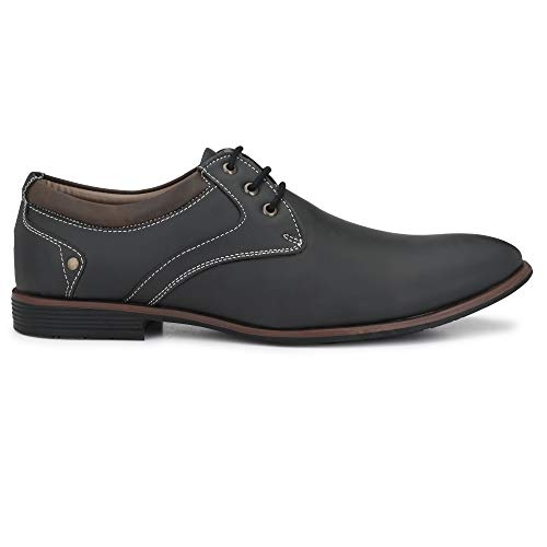 Centrino (7956-03) Black Synthetic Lace Up Formal Shoes