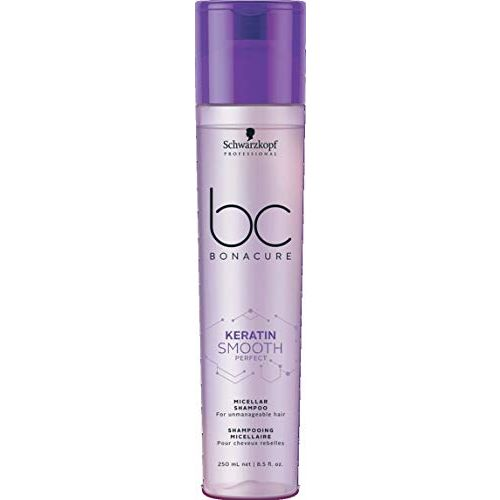 Schwarzkopf Professional Bc Keratin Smooth Perfect Micellar Shampoo, Purple, 8.4 Fl Oz