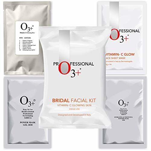 O3+ Bridal Facial Kit Vitamin C Glowing Skin for Bright & Radiant Complexion Suitable for All Skin Types (136g, Single Use)