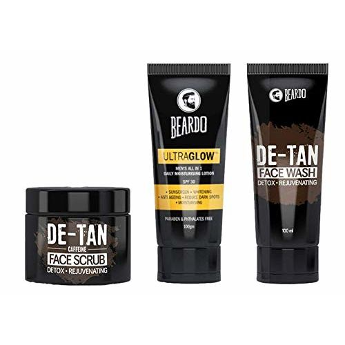 Beardo Summer Combo (De-Tan Face Wash, De-Tan Scrub and Ultraglow Face Lotion)