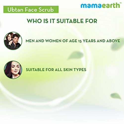 Mamaearth Ubtan Scrub For Face with Turmeric & Walnut for Tan Removal - 100g