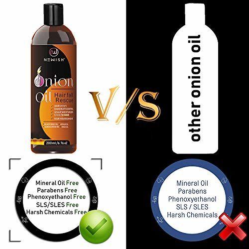 Newish Red Onion Hair Oil for Hair Growth 200ml