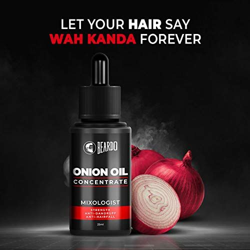 Beardo Onion Oil Concentrate for Hair Growth and Hair Fall Control (25 ml)   Made in India
