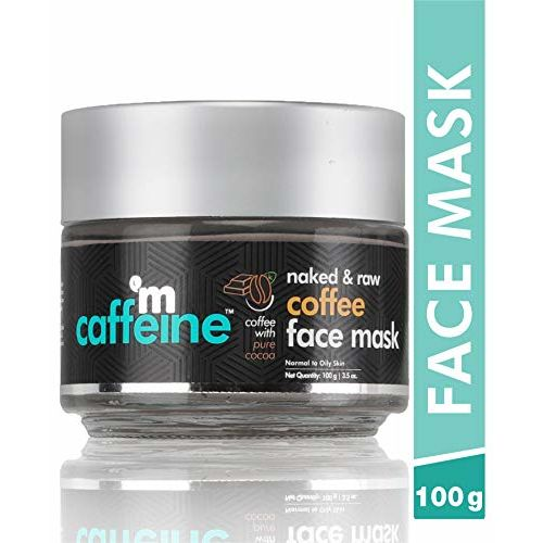 mCaffeine Naked & Raw Coffee Face Mask | Cocoa, Vitamin E | Tan Removal | Oily/Normal Skin | Paraben & Mineral Oil Free | 100 g