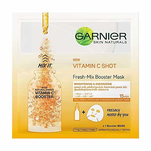 Garnier Skin Naturals, Fresh Mix Vitamin C, Face Serum Sheet Mask (Orange)(33 g)
