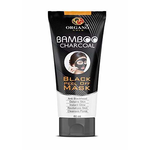 Organo Gold Activated CharCoal Peel Off Mask | Deep skin cleansing Mask for Men & Woman | 60 ML