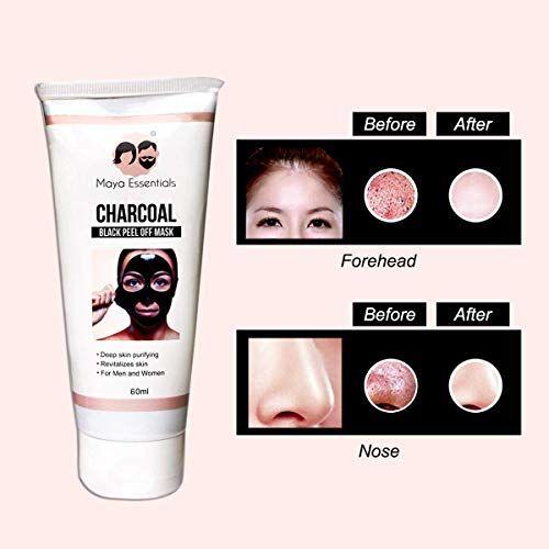 Maya Essentials Activated Charcoal Peel Off Black Mask - 60ml, 60g