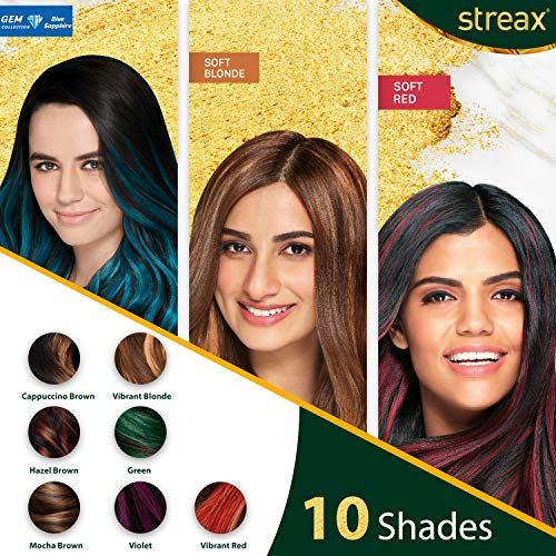 Streax Ultralights Highlighting Kit for Women & Men | Contains Walnut & Argan Oil | Shine On Conditioner | Longer Lasting Highlights | Gem Collection - Blue