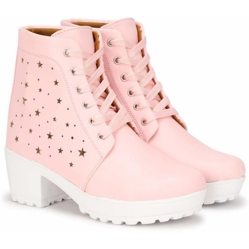 HimQuen New Tredy Stylish Girls Comfortable,Lightweight, Fashionble,Now Look,Outdoor,Ankle Length,High heel, Walking, Running. Boot,Shoe For Women /Girls/Ladies