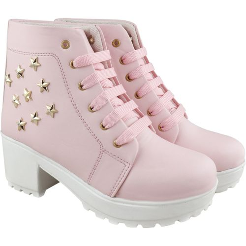 RINDAS Girls Stylish & Comfortable   Casual   Party Wear Boots For Women(Pink)