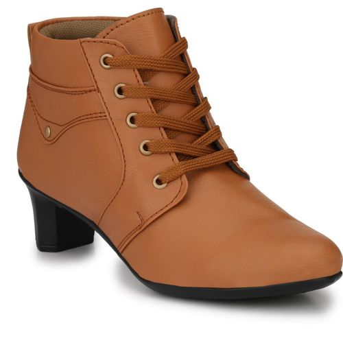 Neso Shearling Party Wear Boots For Women(Tan)