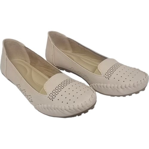saanvishubh Latest Collection Comfortable & Fashionable Casual Bellies for Women's & Girl's Ballet - Cream Bellies For Women(Beige)