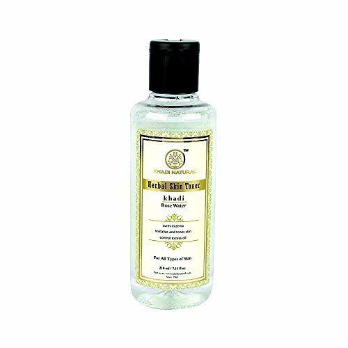 Khadi Natural Ayurvedic Aloevera Neem and Basil F.Mass.Gel, 100g And Khadi Natural Rose Water Herbal Skin Toner, 210ml