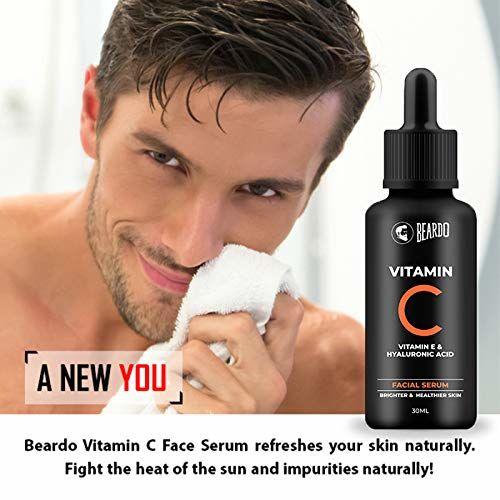 Beardo Vitamin C Facial Serum, 30 ml | Face Serum | Vitamin C | Vitamin E | Made in India