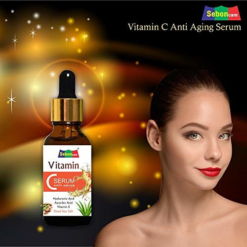 SebonCare Vitamin C Serum for Face Enrich with Hyaluronic Acid, Vitamin E, Tamarind Extract, Aloevera Extract, Dead Sea Salt for Brightening, Anti Ageing,