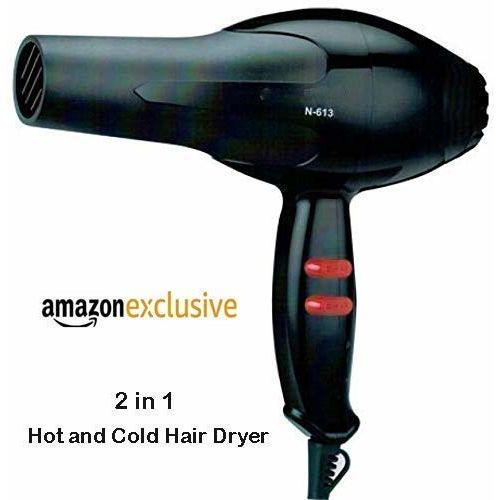 UNIK BRAND 1800 Watt Professional Salon Hair Dryer Negative Ionic Blow Dryer, 2 Speed 3 Heat Settings Cool Button with AC Motor, Concentrator Nozzle and
