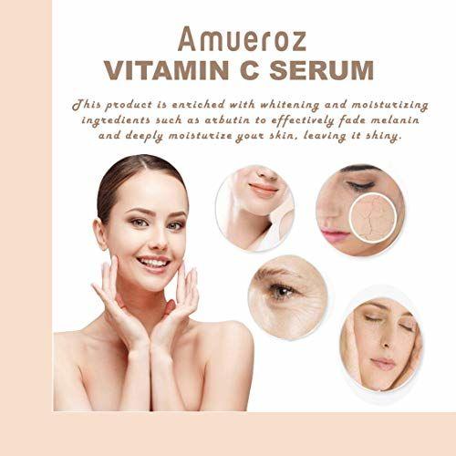 Amueroz Vitamin C Serum for face with Hyaluronic acid | Ferulic acid | Glutanione | Aloe vera and Grape seed extract, 15ml