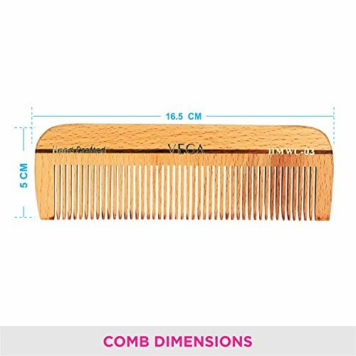 VEGA Wooden Bristle Paddle Brush (E2-PBB), Brown, 140 g & Dressing Wooden Comb, Handmade, Brown, 45 g & Keratin Glow Hair Straightener With Temperature Control