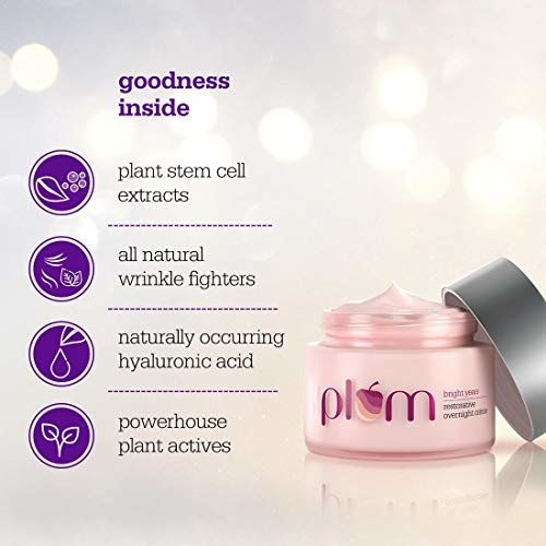 Plum Bright Years Restorative Overnight Creme, 50 ml, Age Specialist, For Normal And Dry Skin, Vegan Skin Care