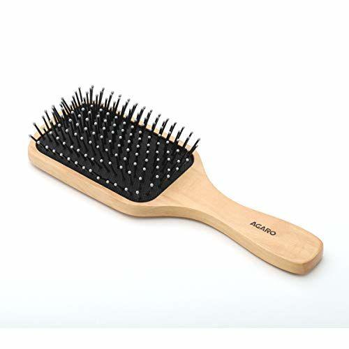 AGARO Wooden Paddle Hair Brush, Clear, 130 g