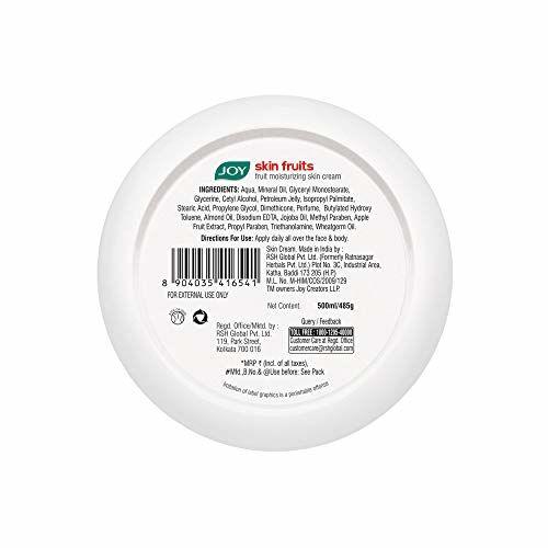 Joy Skin Fruits Fruit Moisturizing Skin Cream With Jojoba and Almond Oil, For All Skin Types 500 ml